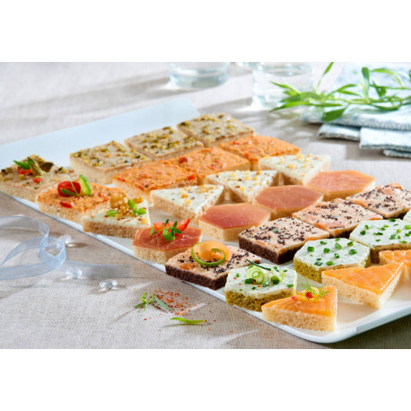 Assortiment canapés Séduction 950 g x 140