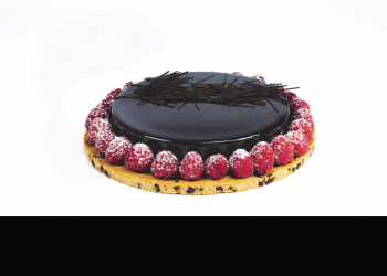 Entremets chocolat framboise avec biscuit cookie